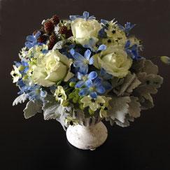 青の花5000円オーダーメイドフラワー