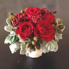 フラワーセラピー,赤の花、3500円オーダーメイドフラワー