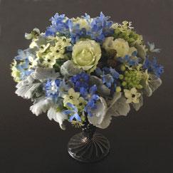 青の花8500円オーダーメイドフラワー