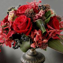 フラワーセラピー,赤の花、8500円オーダーメイドフラワー