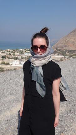Me wearing Utopia Scarf in Oman