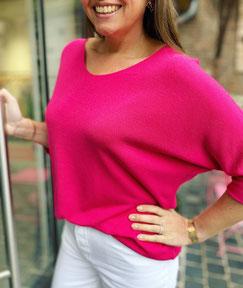 vêtement pour femme sweat bleu avec flamant rose