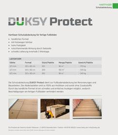 Produktinformation Hartfaser-Abdeckplatten