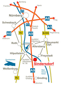 Anfahrt Sindersdorfer Hof