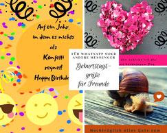 Geburtstagsgrüße für Freunde