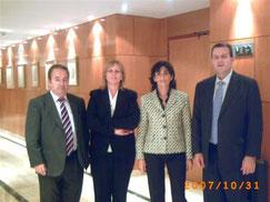Manuel Jaime, Flor Bellver, Marisol Ibarrola y Juan Bergua.