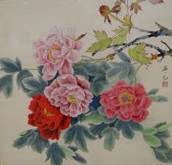 牡 丹 (春) (工筆画・  )