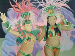 踊りの祭り (油彩・F25 )