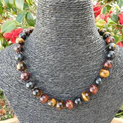 Des bijoux à offrir collier triple protection œil tigre faucon taureau avec alainrsynerj.com