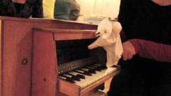 ME plays toy piano with Isabel Ettenauer