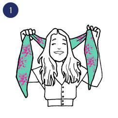 Tuto porter foulard espiègle 1