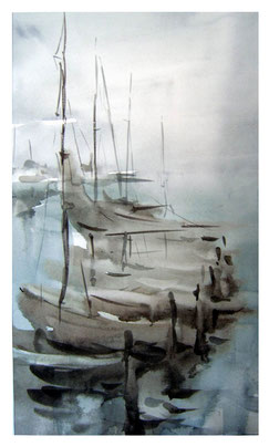 Life on the water - Oil painting & watercolor  / Leben auf dem Wasser - Gemälde & Aquarel