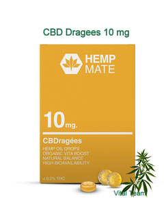 CBD Dragees Kekse 10 mg - CBD von HempMate Partner Vital Team