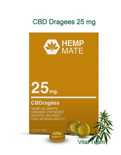 CBD Dragees Kekse 25 mg - CBD von HempMate Partner Vital Team