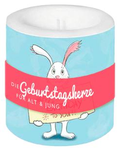 Happy Birthday Geburtstagskerze - mit Hase - Text und Illustration Judith Ganter - Verlag Rannenberg & Friends
