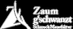 logo zaumgschwanzt schmuckmanufaktur, weiß