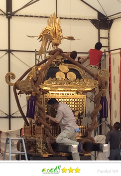 岡倉司郎さん:神田祭 神田市場千貫神輿飾付け