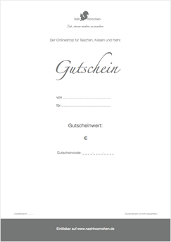 Gutscheine zum Ausdrucken als PDF - schnell und einfach