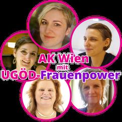 AK Wien mit UGÖD-Frauenpower: Viktoria Spielmann, Marion Polaschek, Cécile Undreiner, Connie Lamm und Angela Packert