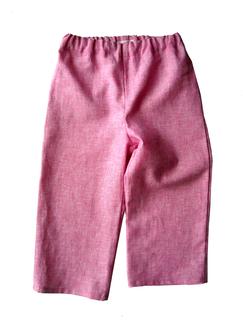 rosa Leinenhose für Kinder, faire Mode, Herzkind, Berlin