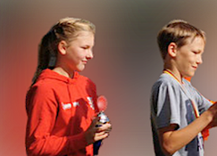 1. Siegerin Mariella Grabow  2. Sieger Mika Storost