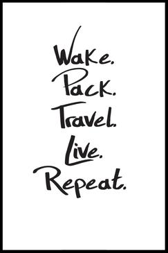 Typografie Reisen, Reise Poster, Schwarz-weiß, Travel Quotes, Travel Poster