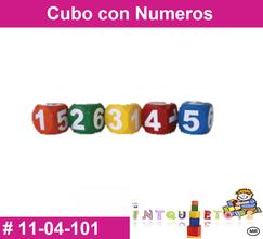 Cubo con numeros MATERIAL DIDACTICO PLASTICO INTQUIETOYS PRIMERDI