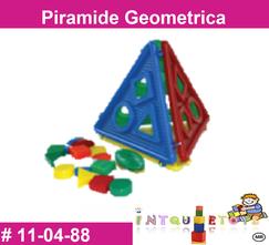 Piramide geometrica MATERIAL DIDACTICO PLASTICO INTQUIETOYS PRIMERDI
