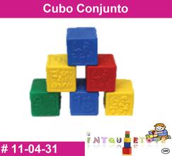 Cubo conjunto MATERIAL DIDACTICO PLASTICO INTQUIETOS PRIMERDI