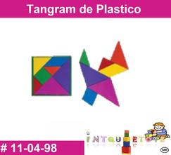 Tangram de plastico MATERIAL DIDACTICO PLASTICO INTQUIETOYS PRIMERDI