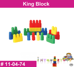 King Block MATERIAL DIDACTICO PLASTICO INTQUIETOYS PRIMERDI