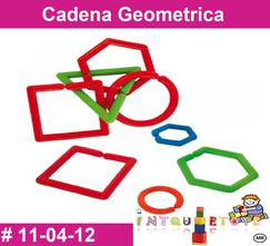 Cadena Geometrica MATERIAL DIDACTICO PLASTICO INTQUIETOYS PRIMERDI