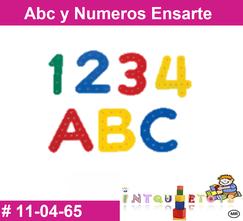 Abc y numeros ensarte MATERIAL DIDACTICO PLASTICO INTQUIETOYS PRIMERDI