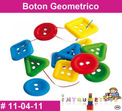 Boton Geometrico MATERIAL DIDACTICO PLASTICO INTQUIETOYS PRIMERDI
