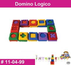 Domino logico MATERIAL DIDACTICO PLASTICO INTQUIETOYS PRIMERDI