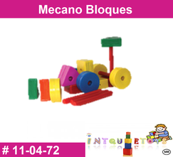 Mecano bloques MATERIAL DIDACTICO PLASTICO INTQUIETOYS PRIMERDI