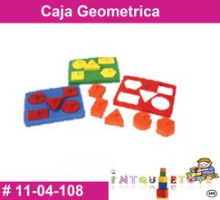 Caja geometrica MATERIAL DIDACTICO PLASTICO INTQUIETOYS PRIMERDI