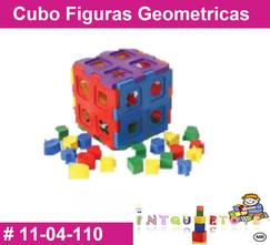 Cubo figuras geometricas MATERIAL DIDACTICO PLASTICO INTQUIETOYS PRIMERDI