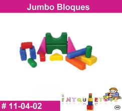 Jumbo bloques MATERIAL DIDACTICO PLASTICO INTQUIETOYS PRIMERDI