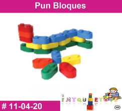 Pun bloques Cuadrado MATERIAL DIDACTICO PLASTICO INTQUIETOYS PRIMERDI