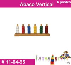 Abaco vertical 6 postes MATERIAL DIDACTICO PLASTICO INTQUIETOYS PRIMERDI