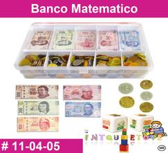 Dinero Banco matematico MATERIAL DIDACTICO PLASTICO INTQUIETOYS PRIMERDI