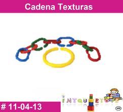 Cadena texturas MATERIAL DIDACTICO PLASTICO INTQUIETOYS PRIMERDI