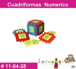 Cuadriformas numerico MATERIAL DIDACTICO PLASTICO INTQUIETOYS PRIMERDI