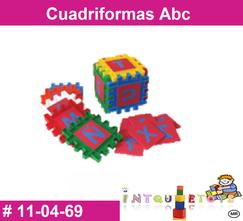 Cuadriformas abc MATERIAL DIDACTICO PLASTICO INTQUIETOYS PRIMERDI