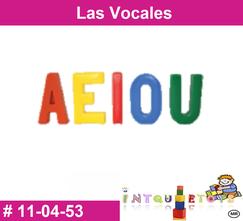 Las vocales MATERIAL DIDACTICO PLASTICO INTQUIETOYS PRIMERDI