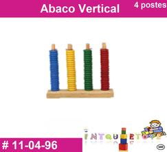 Abaco vertical 4 postes MATERIAL DIDACTICO PLASTICO INTQUIETOYS PRIMERDI