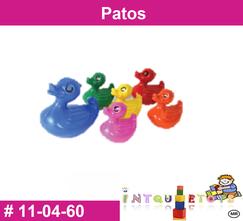 Patos MATERIAL DIDACTICO PLASTICO INTQUIETOYS PRIMERDI