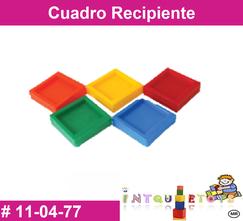 Cuadro recipiente MATERIAL DIDACTICO PLASTICO INTQUIETOYS PRIMERDI