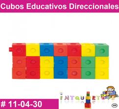 Cubos Educativos Direccionales MATERIAL DIDACTICO PLASTICO INTQUIETOS PRIMERDI